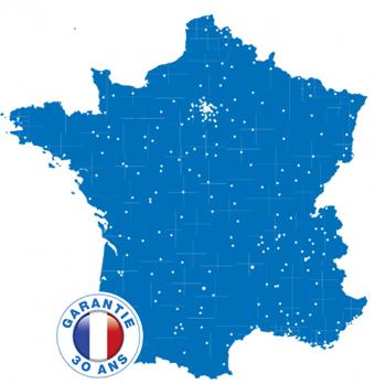 Carte de France bleue Réseau de 250 professionnels de la Fenêtre