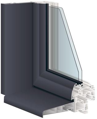 Photo d'une fenêtre coloris gris anthracite