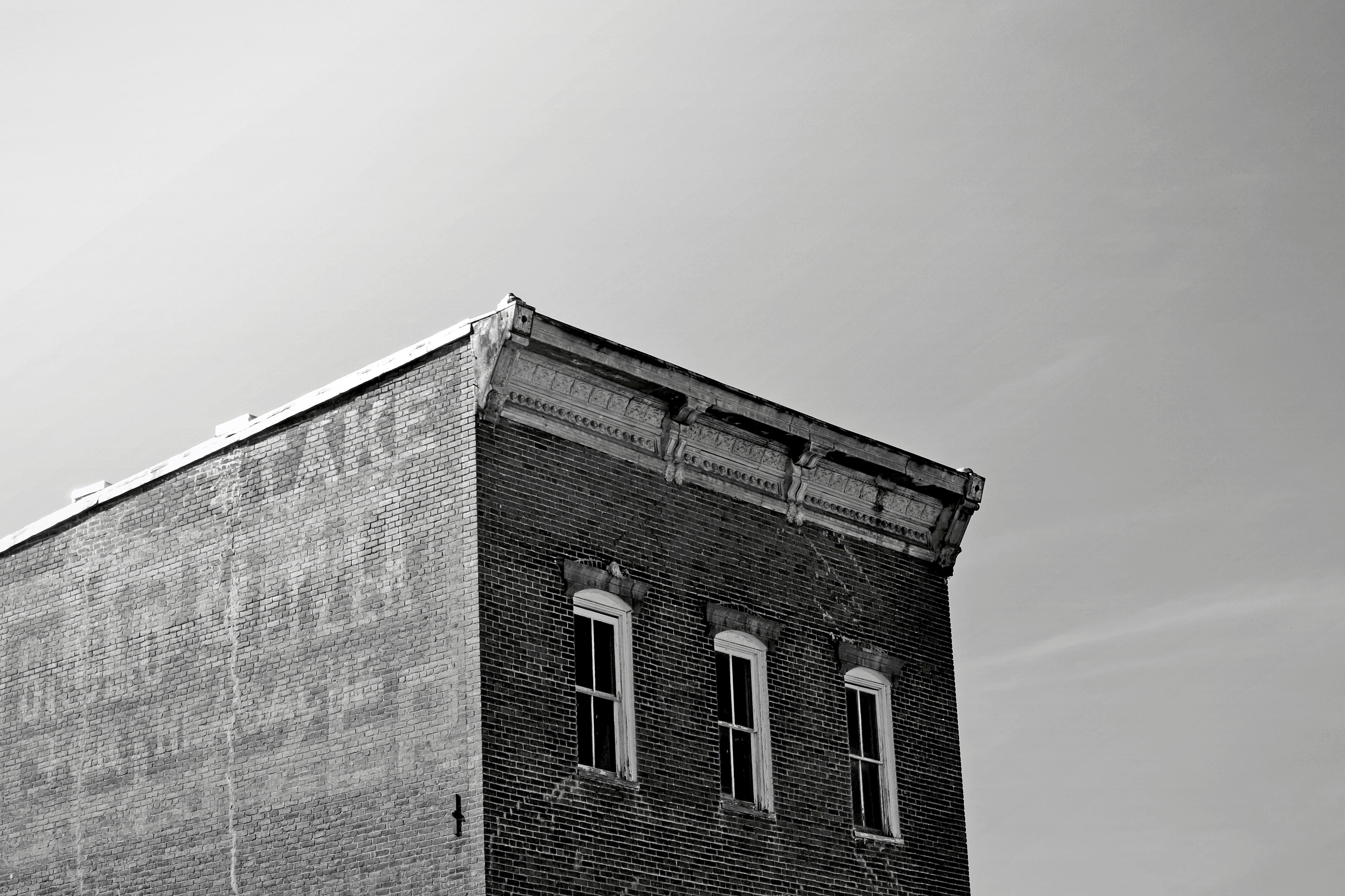 Bâtiment new-yorkais Noir et Blanc
